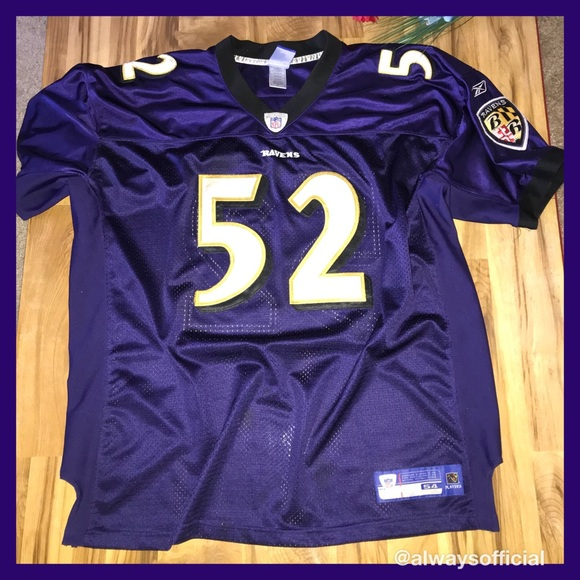 AUTHENTIC REEBOK NFL BAL. RAVENS RAY LEWIS JERSEY